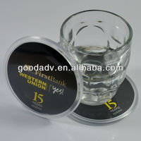 2013 eco-friendly plastic coaster/acrylic cup coaster/acrylic photo coaster for promotion gift