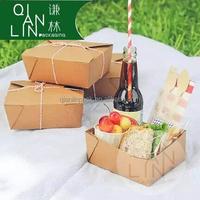 Food Packing Box/Lunch Box/Kraft Paper Box Wholesale