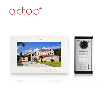 7Inch Color Screen Wired Intercom Support Many Apartment