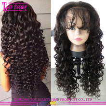alibaba best sellers top quality raw indian hair glueless full lace wig no shedding no tangle curly hair wig