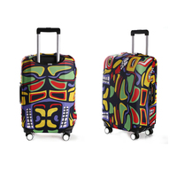 Elastic spandex protective trolley luggage travel bag cover, full color sublimation offset printed suitcase travel case cover