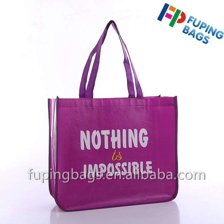 Wholesale Custom Promotional Reusable pp Laminated Tote Recyclable Non Woven foldable Shopping Bags.