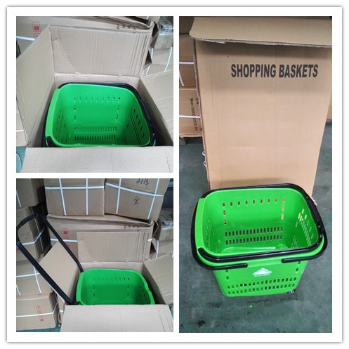 55L Durable plastic Shopping Basket for laundry and shopping