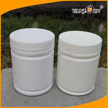 Wide Mouth White HDPE Plastic Protein Powder Jar 550g