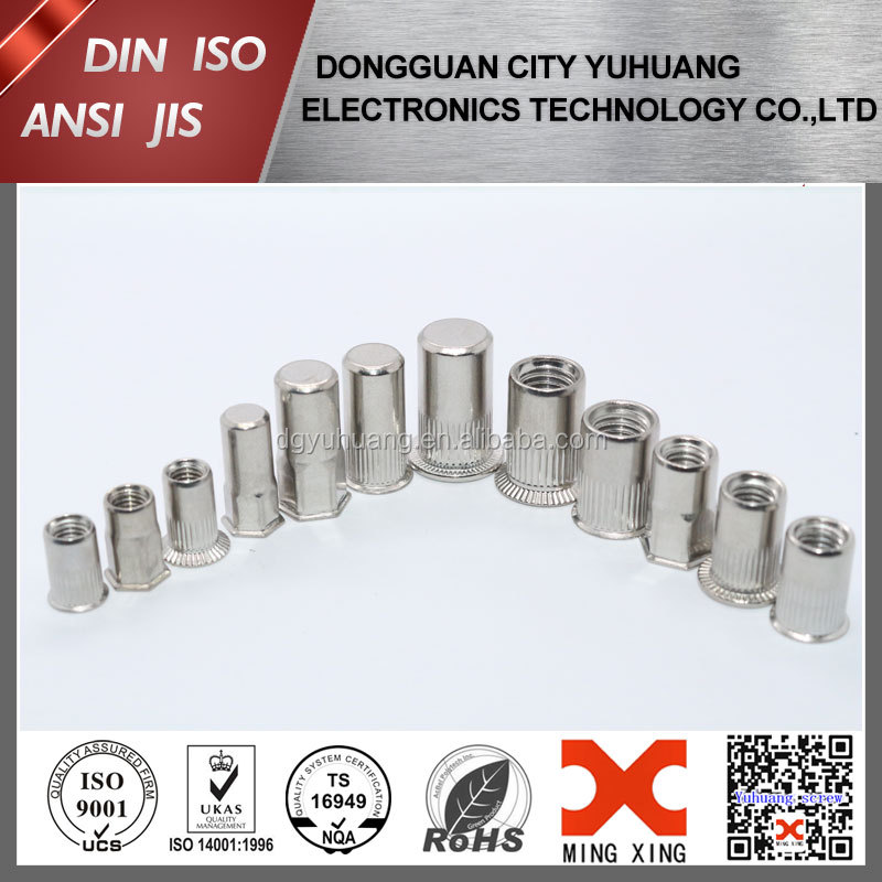 different type stainless steel rivet nuts