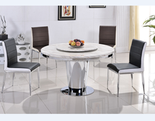 China home furniture round marble slab table top with lazy susan latest designs of dining tables