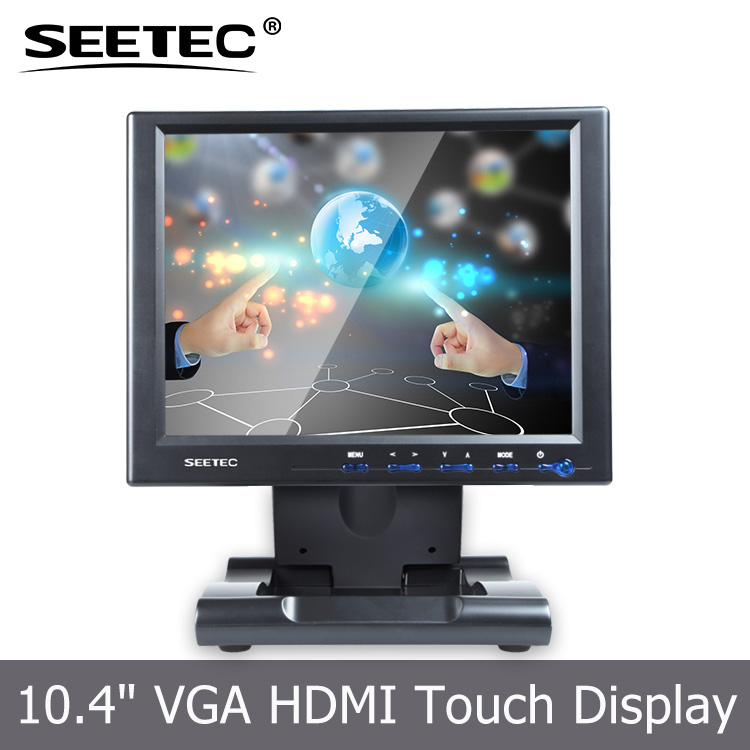 Seetec easy touch 10.4 inch tablet pc space-saving hdmi desktop display for ATM Automation Gaming Kiosk Transportation