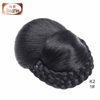 Black Women Straight Hair Bun Synthetic Chignon Hairpiece Bud Hair Extension
