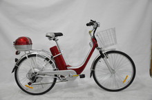 chinese 26 inch low price electric city bicycle/bike with basket