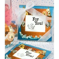 Noah and Friends Collection baby themed coaster favors