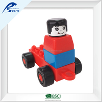 Assembly Toys fun brain games for kids vehicle wheels plastic constructive building jenga blocks
