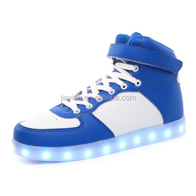 Customize Your Own Logo Brand Led Shoes High Quality LED Lights USB Charging Colorful Shoes Lovers Casual Flash Shoe