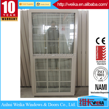 UPVC Single Hung Window UPVC Vertical Sliding Windows