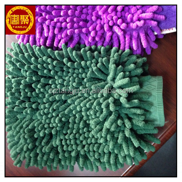 High quality microfiber towel glove for car cleaning