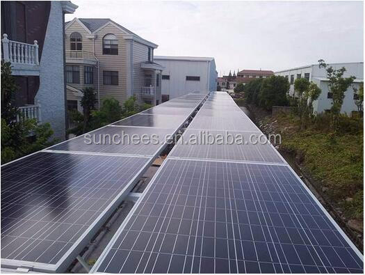 Ground Rooftop install 3000watt solar panel home power ; solar generator free to house