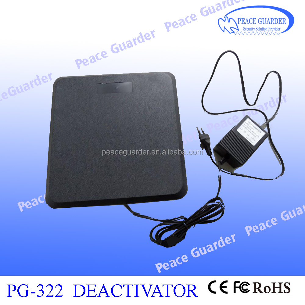 RF EAS Deactivator Retail Store with High Quality Plastic RF Soft Label Deactivator PG-322