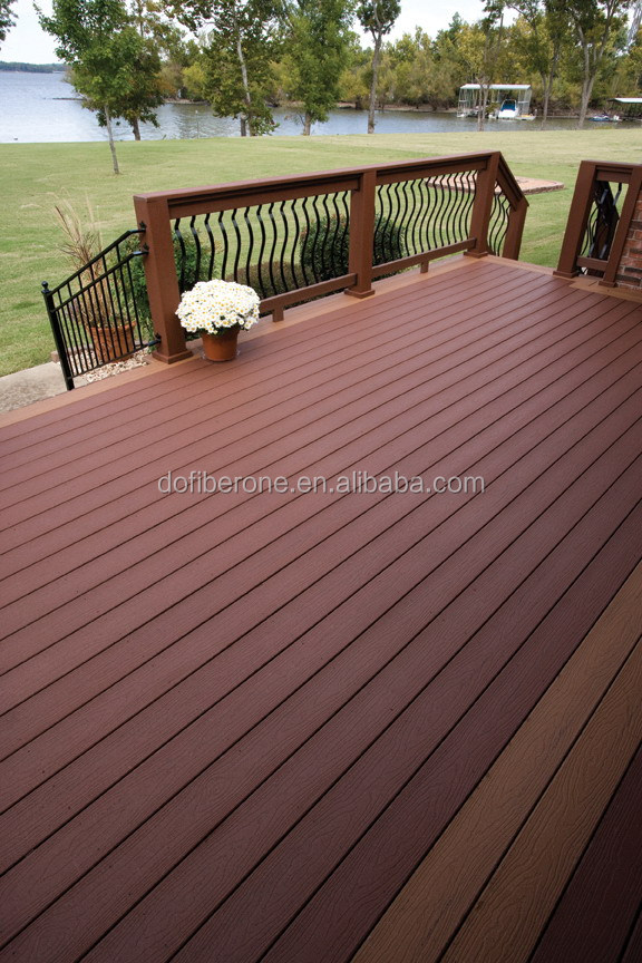 fire resistance outdoor wpc wooden plastic composites decking