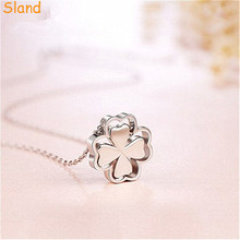 lucky Jewelry wholesale china hollowed design pendant necklace Four Leaf Clover without stone