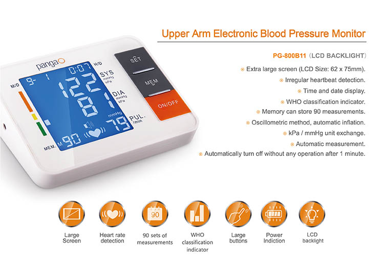 Portable Home Care Automatic Electronic Arm bp machine