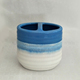 Fashion Designed Hotel Bathroom Accessories Blue Gradient Ramp Ceramic Tooth Brush Holder