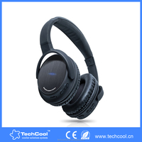 phone wireless true active noise cancelling on-ear earbud headset bluetooth headphones with travel case