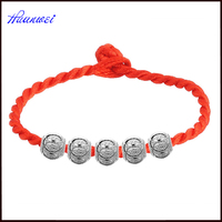 925 sterling silver transfer beads simple designs Red string bracelet