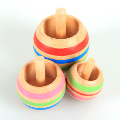 Wholesale manufacture custom educational wooden toy fidget toy fidget spinning top