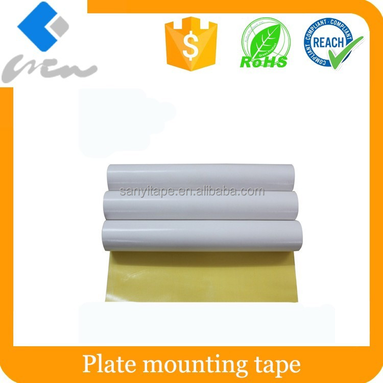 Plate mounting tape for box printing