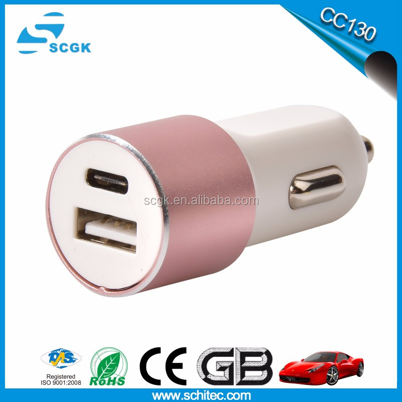 Type-C Female DC 12V-24V Car Charger