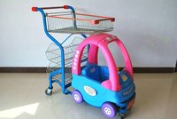 kids shopping trolley with a toy
