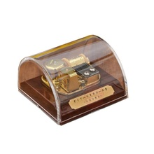 High Quality Transparent Acrylic Music Box Dome Box with Stop Button Musical Toys Tune