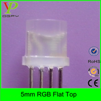 super bright 5mm flat top rgb led