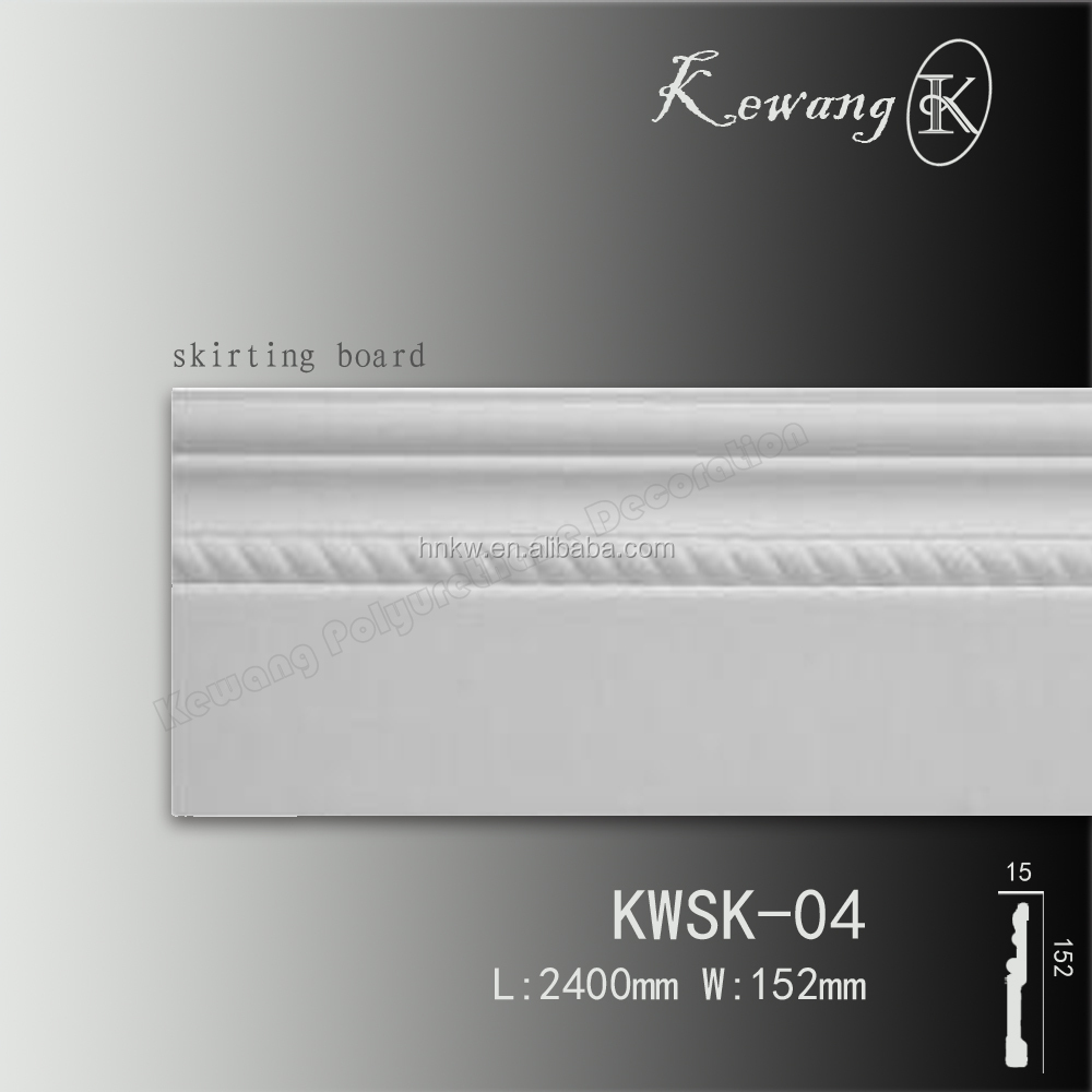 KWSK04 High-grade Building Decoration PU Polyurethane Skirting Board