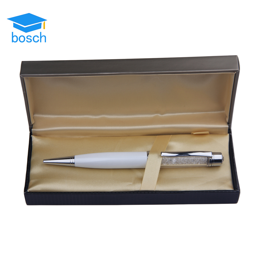 Delicate and shinning crystal ballpoint pen set classical promotional for wedding gift pen set