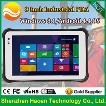 HAOEN HT08 8 inch Rugged Tablet 2GB+32GB 2+5MP Numerous functions industrial Tablet with windows 10 Tablet 3G GPS Ublox IP67