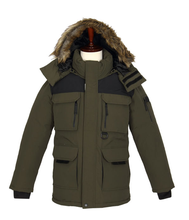 Hot Sale Men's Warm Winter Jacket With Zip Up Big Pockets Hoodies Outdoor Wear Wholesale