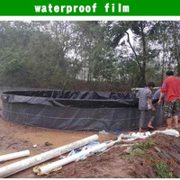 hiqh quality rubber membrane for waterproofing /manmade black film to raise fish
