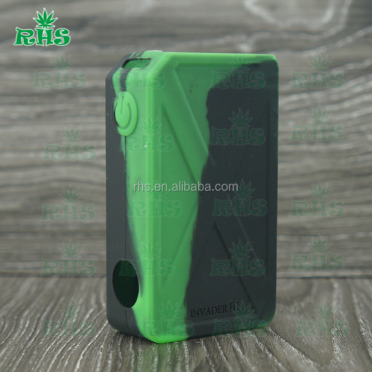 Tesla Invader III 240W Box Mod Invader 3 Electronic Cigarette boxes silicone case with19 colors In stock