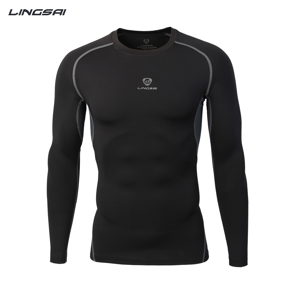 New Tight Fit Mens Sport Training T Shirt Long Sleeve
