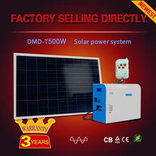 High quality dc to ac pure/modified sine wave plug and play solar system 500w with kit