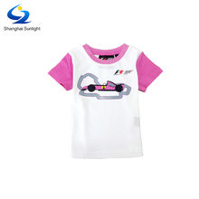 Summer Child Cotton Soft T Shirt Baby Boys Girls Short Sleeve Tops With New Design Carton Picture