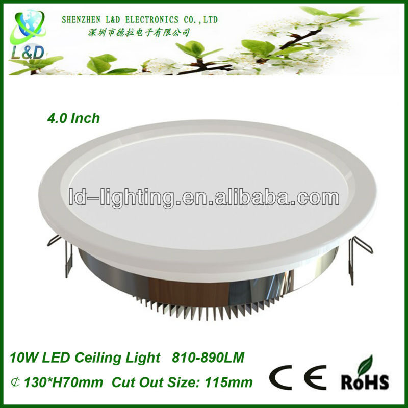 China LED Downlights Factory Supply 10W 890-910LM Led Downlight Housing