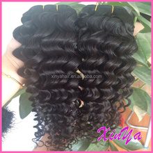 High Quality Double Weft Virgin Human Hair deep wave curly hair cambodian