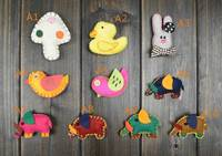 holiday brooches and pins for children clothing decoration mushroom duck rabbit bird pig shape brooch fancy kids brooch