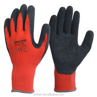 ENKERR black latex coated glove nylon or polyeter liner