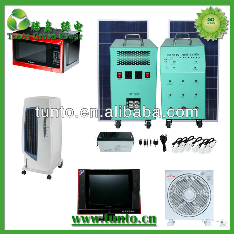 Household use solar pv power system for air conditioner,fan,TV,Microwave,etc