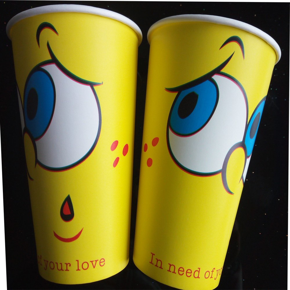 Two kinds novel Minions paper cups cool design with custom design