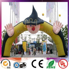 Best quality cartoon pattern cheap inflatable arch for advertising