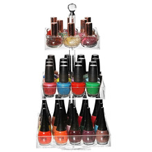 hot sale factory price clear acrylic nail polish display rack