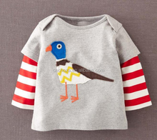 Z51146B Spring Autumn Baby Clothes Factory Baby Tshirt Fashion Boys Tshirts